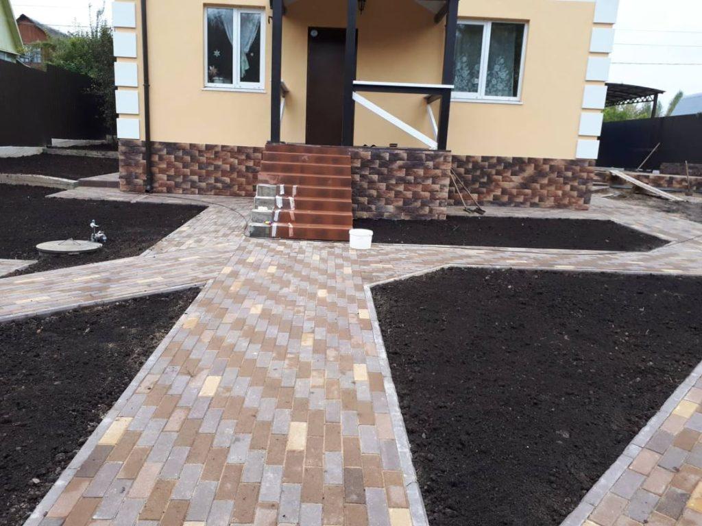 укладка тротуарной плитки в пушкино